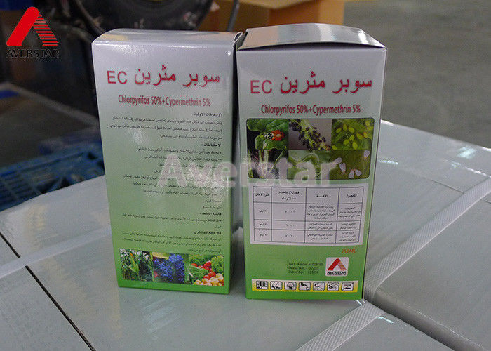Safe Pesticides For Vegetable Gardens , Mixing Combination Pesticide Chlorpyrifos 50% / Cypermethrin 5% EC